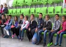 Днес баскетболистите на Балкан имаха приятна среща с цял клас второкласници